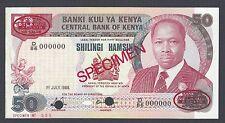 Kenya 50 Shillings 1-7-1988 P22es Specimen TDLR N1 Uncirculated