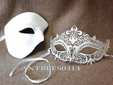White Lovely Traditional Men Women Masquerade Halloween Ball Party Mask