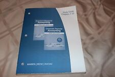 Financial & Managerial Corporate Accounting Study Guide by Warren Reeve Duchac