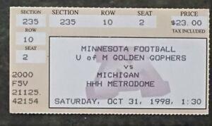 1998 Michigan v. Minnesota Stub Tom Brady
