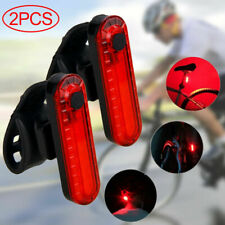 2X USB Rechargeable LED Bike Tail Light Bicycle Rear Cycling Warning Lamp Safety