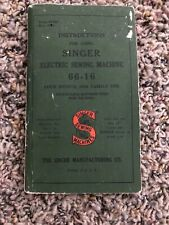 New ListingSinger 66-16 Vintage Sewing Machine Manual Booklet