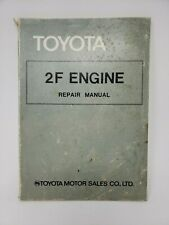 Vintage 1977 Toyota Land Cruiser and Truck 2F Engine Service Repair Manual
