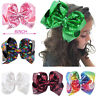 Multicolor 8 inch Large Hair Bows Sequin Alligator Clips Headwear For Kids Girls