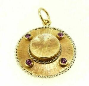 Pendant Vintage Years' 60 Shaped Hat Gold Solid 18K Made in Italy