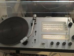 Braun Audio Schallplattenspieler Schneewittchensarg voll funktionsfähig Sammler