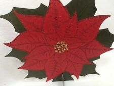 5 HOLIDAY TIME Red Poinsettia Table Decoration Christmas Xmas 25322