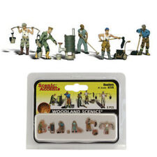 Woodland Scenics Accents A2128 Figures - Roofers - Pkg (6) N Scale