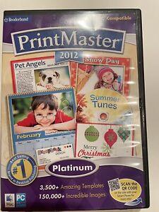 Encore Software Printmaster 2012 Platinum Broderbund Print Master