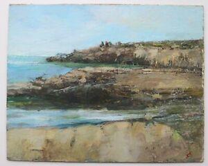 James Carlisle - 1937-2019 - coastal landscape in Northumberland