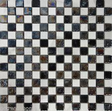 probe checker schwarz weiss glas naturstein mosaik fliese kche backsplash - Schwarzweimosaikfliese Backsplash