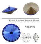 Genuine SWAROVSKI 1122 Rivoli Round Stones Foiled Glue Fix * More Colors & Sizes