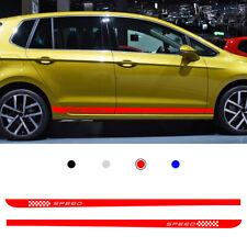Red For Volkswagen Golf 7  Rocker Side Skirt Stripe Body Sticker Decals Car Body