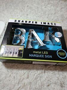 Bar Light Metal LED Marquee Sign Sharper Image