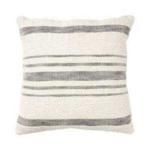 Brentwood Originals Modern Farmhouse Woven Décor Pillow, Gray Stripe, 20 x 20