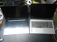 Two (2) Toshiba Laptops i7 i3 4th Gen Parts Repair Only No RAM No HDD No Power