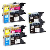 10 PK (BK C M Y) New Ink Set for Brother LC71 LC75 MFC J625DW J825DW J835DW
