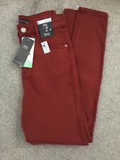MARKS & SPENCER WOMENS BURGUNDY RED SKINNY JEANS, Size 8, Bnwt