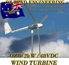Wind Turbine Generator OZ Wind 2kW 48Vdc