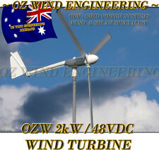 Wind Turbine Generator OZ Wind 2kW 24Vdc