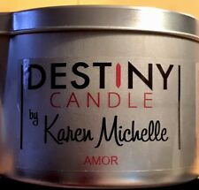 Coconut Vanilla Scented Massage Oil Candle - Destiny Candle with Jewelry