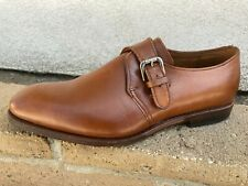 Allen Edmonds Warwick Monk Strap Dress Shoes Walnut Mens Size 10.5 EEE Wide 10