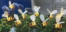Solarleuchte Bienen NEU Solarlichterkette mit 10 LED Lämpchen 180 cm lang