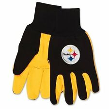 NFL Pittsburgh Steelers Two Tone Utility Gloves Gardening Warm Durable