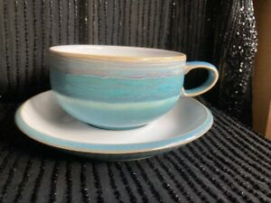 Denby Azure Coast Tea/Coffee Cup And Saucer -excellent condition