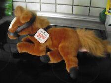 hermann-pferd-plüschtier-ca. 38 cm-liegend-neuwertig-kuscheltier-teddy