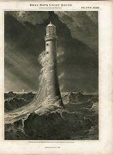 Escocia. «Bell Rock light house» Dibujado y grabado por Lizars sobre obra de W.