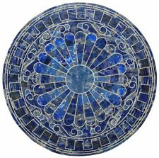 """42""""  Marble center / Coffee Table Top Inlay lapi lazuli Marquetry art Work"""