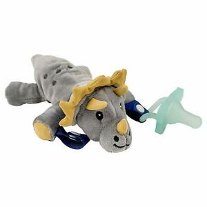 Dr. Brown's Lovey Pacifier and Teether Holder Triceratops with Teal 0 Months+