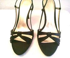 NINE WEST*- Women Textile Size 10 M - Ladies Open Toe - Stiletto 4.25 Heel Shoes