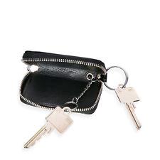 Schlüsseltasche Schlüsselmappe Schlüsseletui echt Leder Schwarz NEU