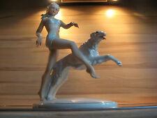 Schaubach Kunst Schau 12 junges Mädchen mit Windhund Porzellan Figur