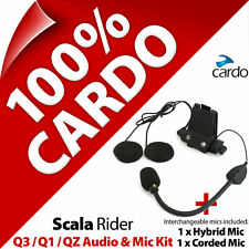 Cardo Scala Rider Audio & Mic Accessory Kit Q3 Q1 QZ Motorcycle Helmet Intercom