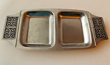 Mid Century Danish Modern Stainless Rogers Insilco Relish Tray Vintage Divided