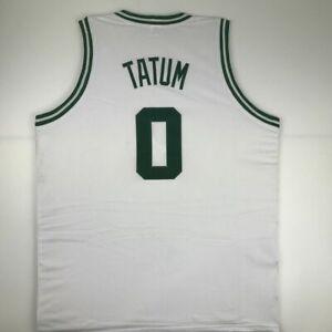 New JAYSON TATUM Boston White Custom Stitched Basketball Jersey Size Men's XL