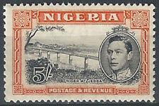1938 Nigeria Giorgio VI 5s black and orange SL (MNH) Cat SG n. 59 £ 110,00