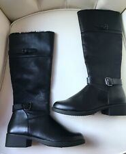 Marks & Spencer Insolia Flex Ladies Black Knee High Buckle Flat Boots Size 3