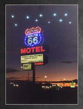 LED Wandbild mit Beleuchtung ROUTE 66 Leuchtbild 30 x 40 cm