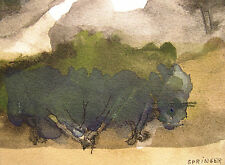 Ferdinand springer 1907-1998 grasse/aquarelle & an 1979/paysage
