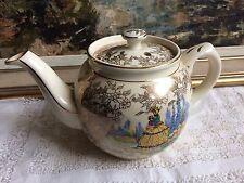 Vintage SADLER Yellow Crinoline Lady  & Gold Teapot
