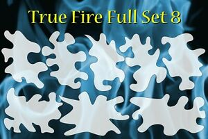 airbrush stencil Flame Template 8 Large Fire Stencils Spray Vision