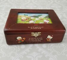 Vintage Hello Kitty Wooden Jewelry Treasure  Photo Box Sanrio Character Town
