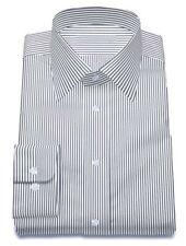 White With Black Stripe Dress Shirt Long sleeve Custom Made Bespoke Shirts