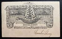 WW1 Malta Prisoner of War POW Christmas Postcard cover to Darmstadt Germany 1910