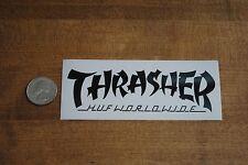 HUF SF X Thrasher Magazine White logo Sticker Supreme