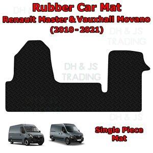 Black Rubber Car Mat Set Fits Renault Master & Vauxhall Movano Van (2010-2021)